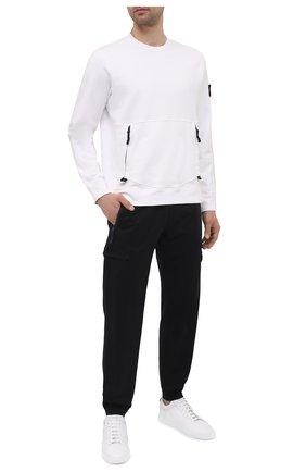 Мужской хлопковый свитшот STONE ISLAND белого цвета, арт. 741563451 | Фото 2