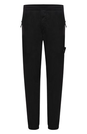 Мужские джоггеры из хлопка и шерсти STONE ISLAND черного цвета, арт. 7415317F2 | Фото 1