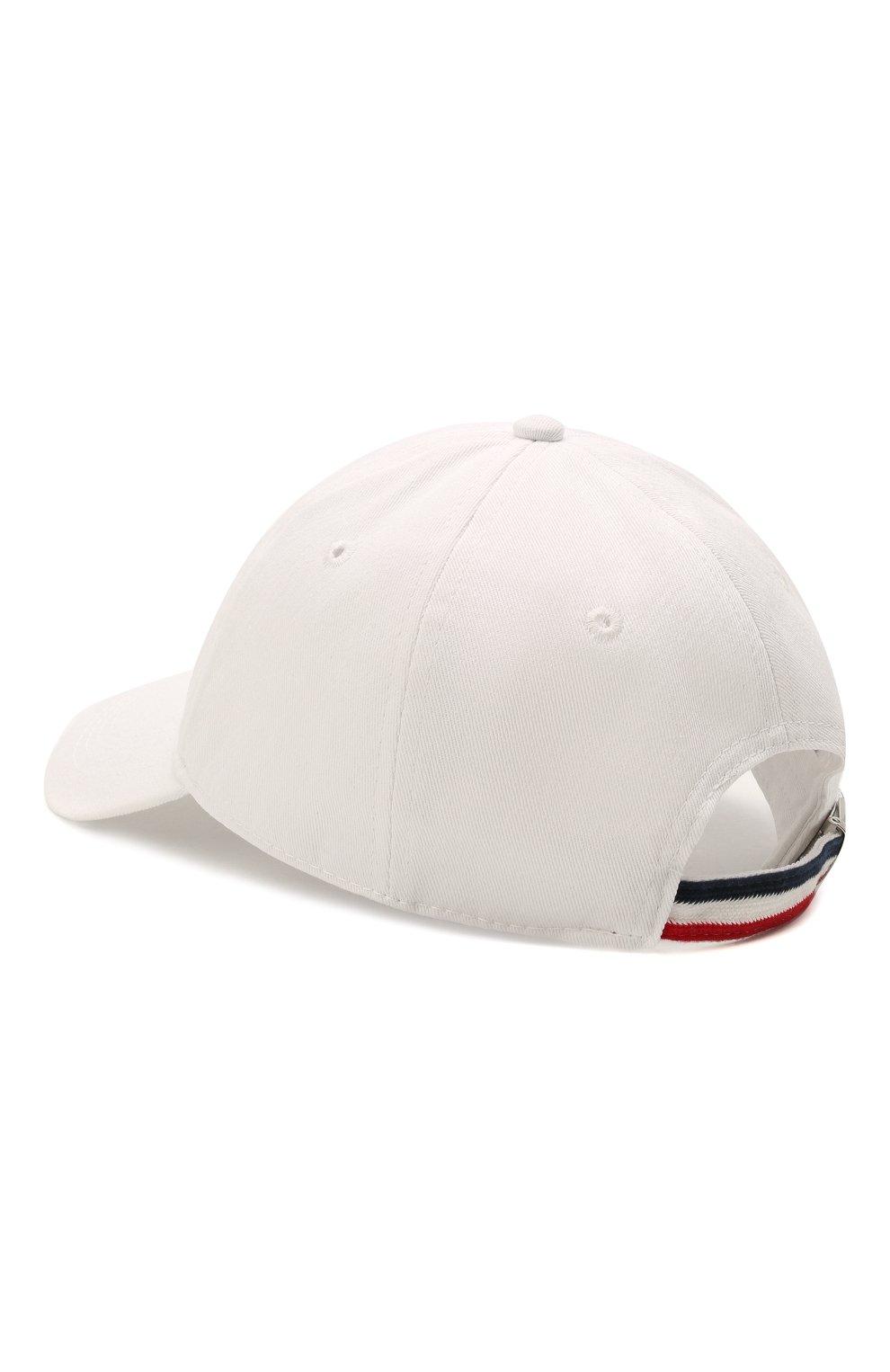 Мужской хлопковая бейсболка MONCLER белого цвета, арт. G1-091-3B706-00-V0090   Фото 2