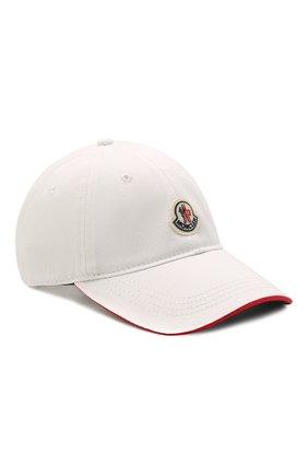 Мужской хлопковая бейсболка MONCLER белого цвета, арт. G1-091-3B707-00-V0090 | Фото 1