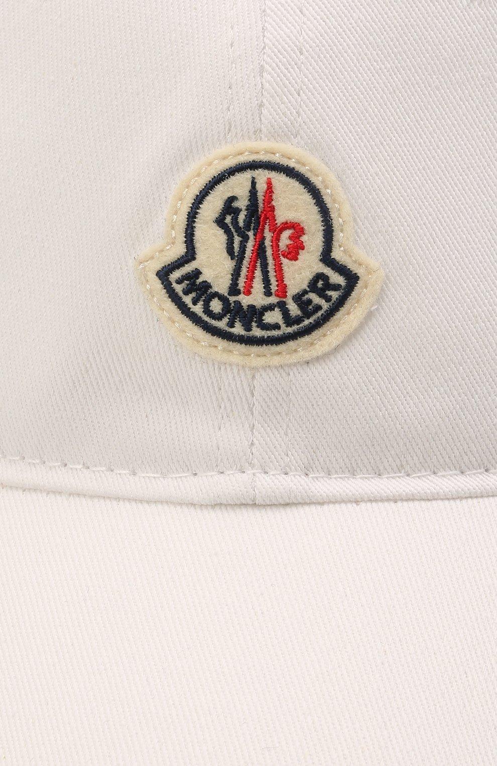 Мужской хлопковая бейсболка MONCLER белого цвета, арт. G1-091-3B707-00-V0090 | Фото 3