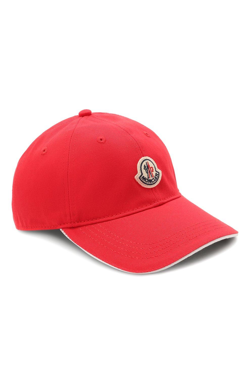 Мужской хлопковая бейсболка MONCLER красного цвета, арт. G1-091-3B707-00-V0090 | Фото 1