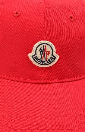 Мужской хлопковая бейсболка MONCLER красного цвета, арт. G1-091-3B707-00-V0090 | Фото 3