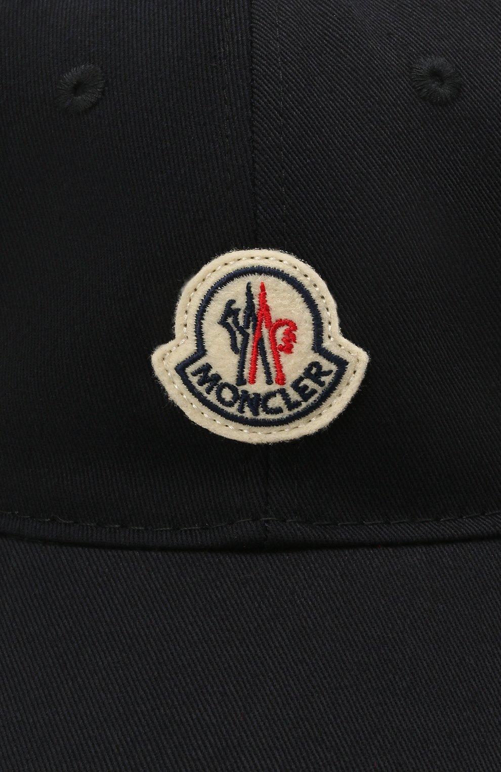 Мужской хлопковая бейсболка MONCLER темно-синего цвета, арт. G1-091-3B707-00-V0090   Фото 3