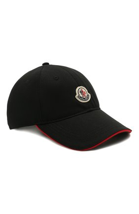 Мужской хлопковая бейсболка MONCLER черного цвета, арт. G1-091-3B707-00-V0090 | Фото 1