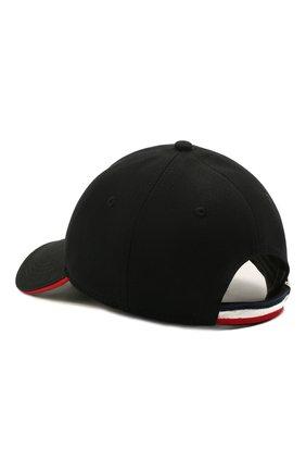 Мужской хлопковая бейсболка MONCLER черного цвета, арт. G1-091-3B707-00-V0090 | Фото 2
