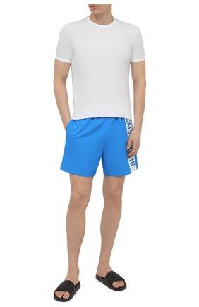 Мужские плавки-шорты CALVIN KLEIN синего цвета, арт. KM0KM00542 | Фото 2