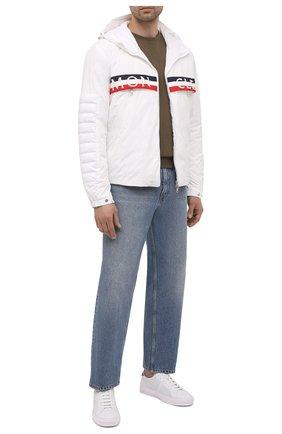 Мужские кожаные кеды MONCLER белого цвета, арт. G1-09A-4M714-40-02SSC | Фото 2