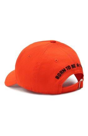 Мужской хлопковая бейсболка DSQUARED2 оранжевого цвета, арт. BCM0402 05C00001 | Фото 2