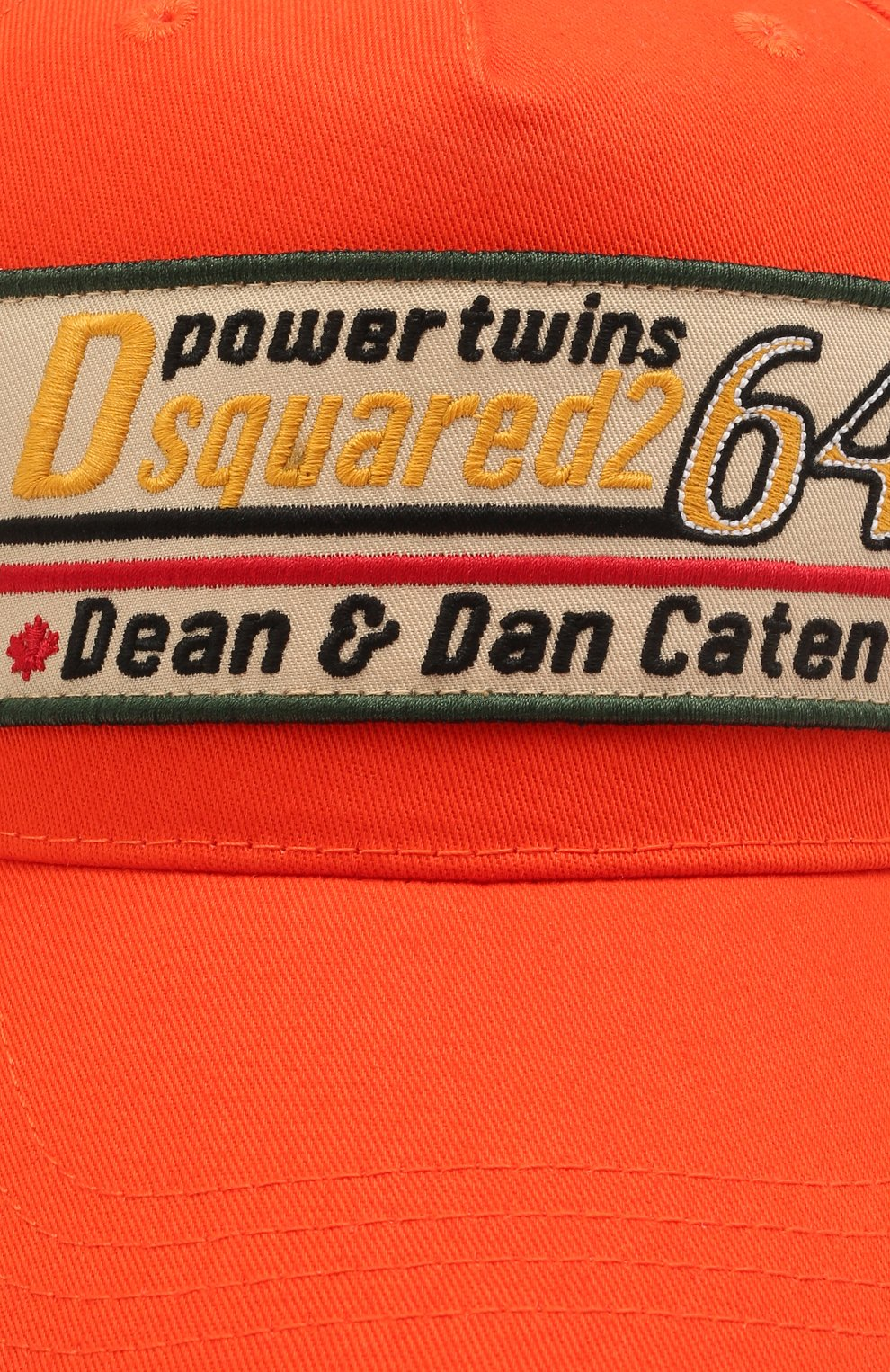 Мужской хлопковая бейсболка DSQUARED2 оранжевого цвета, арт. BCM0402 05C00001 | Фото 3