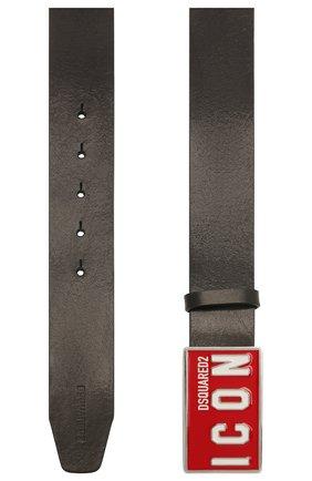 Мужской кожаный ремень DSQUARED2 черного цвета, арт. BEM0326 12900001 | Фото 2