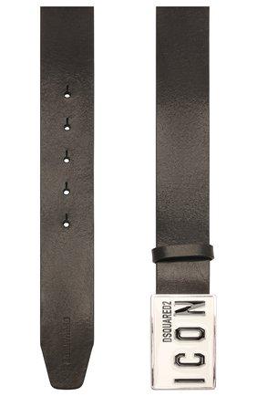 Мужской кожаный ремень DSQUARED2 черного цвета, арт. BEM0326 12900001 | Фото 2 (Случай: Повседневный)