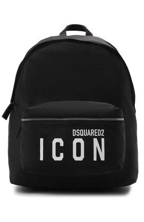 Мужской текстильный рюкзак DSQUARED2 черного цвета, арт. BPM0052 11703199 | Фото 1