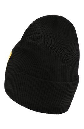 Мужская шерстяная шапка DSQUARED2 черного цвета, арт. KNM0001 01W03935 | Фото 2