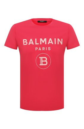 Мужская хлопковая футболка BALMAIN розового цвета, арт. VH0EF000/B080 | Фото 1