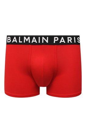 Мужские хлопковые боксеры BALMAIN красного цвета, арт. BRLD55180 | Фото 1