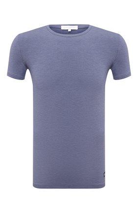 Мужская футболка ERMENEGILDO ZEGNA темно-синего цвета, арт. N3M201220   Фото 1