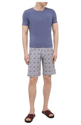 Мужская футболка ERMENEGILDO ZEGNA темно-синего цвета, арт. N3M201220   Фото 2