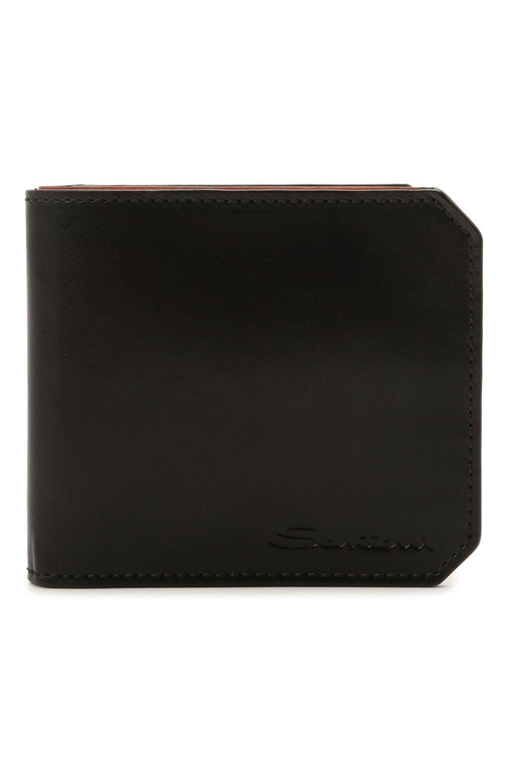 Мужской кожаное портмоне SANTONI темно-коричневого цвета, арт. UFPPA2025F0-XVVDT50 | Фото 1