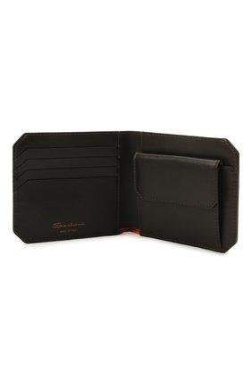 Мужской кожаное портмоне SANTONI темно-коричневого цвета, арт. UFPPA2025F0-XVVDT50 | Фото 3