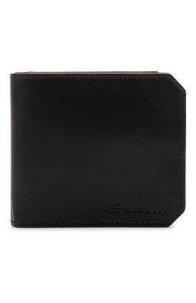 Мужской кожаное портмоне SANTONI черного цвета, арт. UFPPA2025F0-XVVDN01 | Фото 1