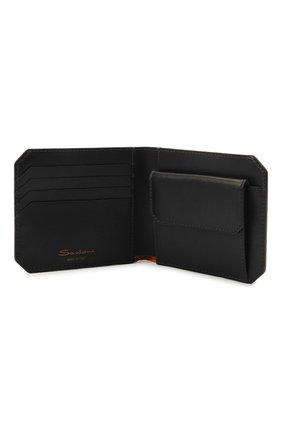Мужской кожаное портмоне SANTONI черного цвета, арт. UFPPA2025F0-XVVDN01 | Фото 3