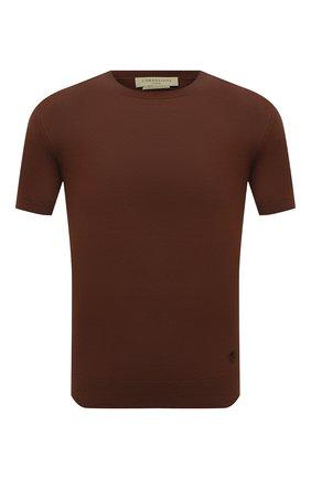 Мужской хлопковый джемпер CORNELIANI коричневого цвета, арт. 87M517-1125120/00   Фото 1