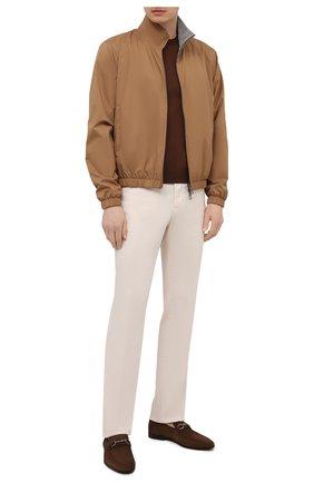 Мужской хлопковый джемпер CORNELIANI коричневого цвета, арт. 87M517-1125120/00   Фото 2