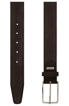 Мужской замшевый ремень CORNELIANI коричневого цвета, арт. 87V301-1120822/00 | Фото 2