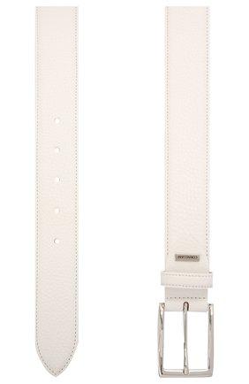 Мужской кожаный ремень CORNELIANI белого цвета, арт. 87V316-1120826/00 | Фото 2