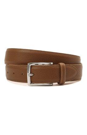 Мужской кожаный ремень CORNELIANI коричневого цвета, арт. 87V316-1120826/00 | Фото 1