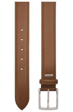 Мужской кожаный ремень CORNELIANI коричневого цвета, арт. 87V316-1120826/00 | Фото 2