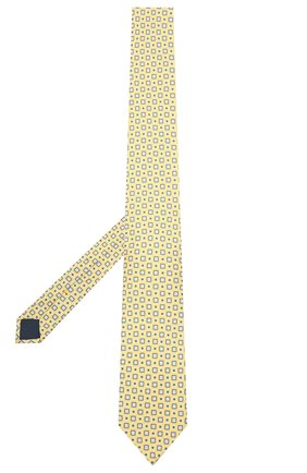 Мужской шелковый галстук CORNELIANI желтого цвета, арт. 87U390-1120334/00 | Фото 2
