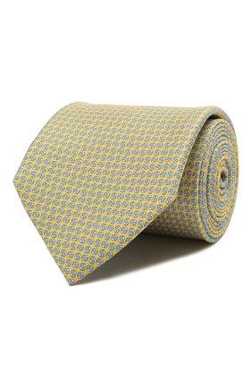 Мужской шелковый галстук CORNELIANI желтого цвета, арт. 87U390-1120334/00 | Фото 1
