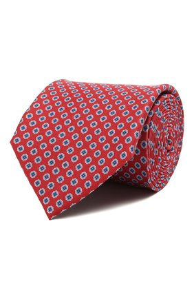 Мужской шелковый галстук CORNELIANI красного цвета, арт. 87U390-1120333/00 | Фото 1