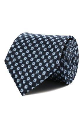 Мужской шелковый галстук CORNELIANI синего цвета, арт. 87U390-1120321/00   Фото 1 (Материал: Текстиль, Шелк; Принт: С принтом)