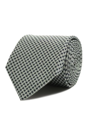 Мужской шелковый галстук CORNELIANI хаки цвета, арт. 87U390-1120308/00   Фото 1