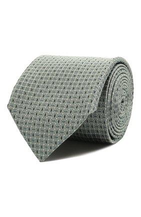Мужской шелковый галстук CORNELIANI салатового цвета, арт. 87U390-1120308/00 | Фото 1 (Материал: Текстиль, Шелк; Принт: С принтом)