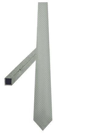 Мужской шелковый галстук CORNELIANI салатового цвета, арт. 87U390-1120308/00 | Фото 2 (Материал: Текстиль, Шелк; Принт: С принтом)