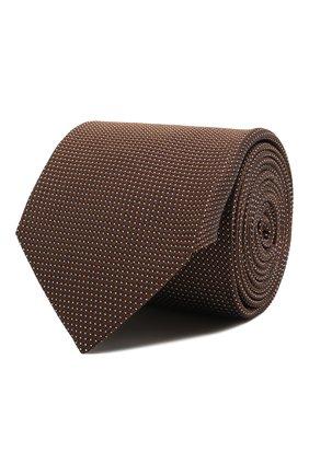 Мужской шелковый галстук CORNELIANI коричневого цвета, арт. 87U390-1120306/00   Фото 1