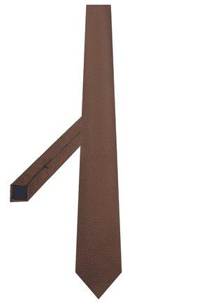 Мужской шелковый галстук CORNELIANI коричневого цвета, арт. 87U390-1120306/00   Фото 2