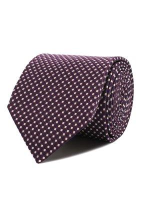 Мужской шелковый галстук CORNELIANI фиолетового цвета, арт. 87U390-1120305/00 | Фото 1 (Материал: Шелк, Текстиль; Принт: С принтом)