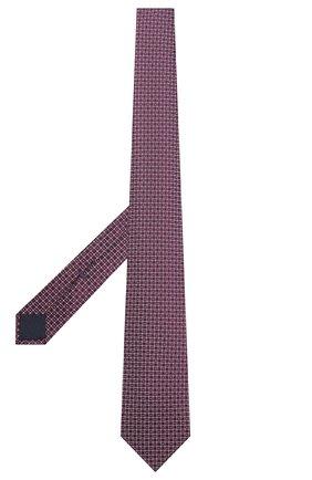 Мужской шелковый галстук CORNELIANI фиолетового цвета, арт. 87U390-1120305/00 | Фото 2 (Материал: Шелк, Текстиль; Принт: С принтом)
