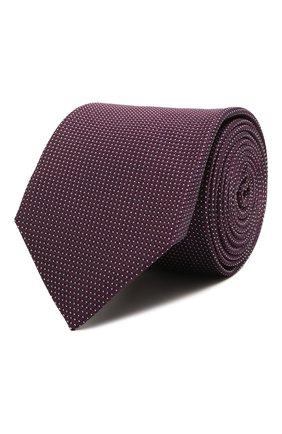 Мужской шелковый галстук CORNELIANI фиолетового цвета, арт. 87U390-1120305/00 | Фото 1 (Материал: Текстиль, Шелк; Принт: С принтом)