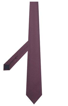Мужской шелковый галстук CORNELIANI фиолетового цвета, арт. 87U390-1120305/00 | Фото 2 (Материал: Текстиль, Шелк; Принт: С принтом)