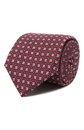 Мужской шелковый галстук CORNELIANI красного цвета, арт. 87U306-1120341/00 | Фото 1