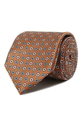 Мужской шелковый галстук CORNELIANI коричневого цвета, арт. 87U306-1120330/00   Фото 1