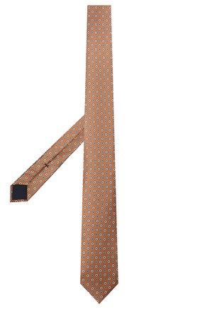 Мужской шелковый галстук CORNELIANI коричневого цвета, арт. 87U306-1120330/00   Фото 2