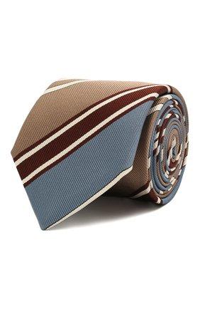Мужской шелковый галстук CORNELIANI темно-коричневого цвета, арт. 87U302-1120317/00   Фото 1