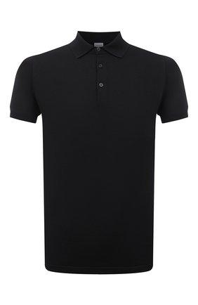 Мужское хлопковое поло ASPESI черного цвета, арт. S1 Q M040 3371 | Фото 1